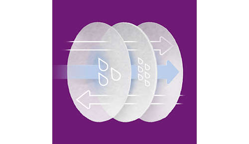 Design sultraabsorpčním materiálem a trojvrstvým jádrem