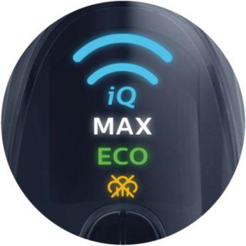 Удобные режимы подачи пара: DynamiQ, MAX, ECO и OFF