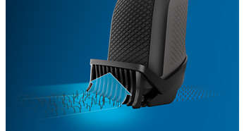 Lift&Trim comb captures more low-lying hairs with every pass