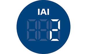 Zobrazenie IAI ukazuje úroveň rizika prítomnosti alergénov v interiéri