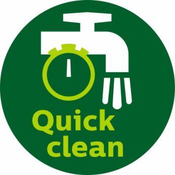 QuickClean-kurve med slip-let-trådnet og aftageligt håndtag
