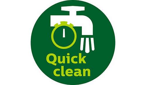 QuickClean-mand met antiaanbaklaag en afneembare handgreep