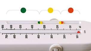 Configurez l'appareil afin de mesurer votre plage personnelle