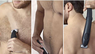 Sanftes Trimmen und Rasieren für den ganzen Körper