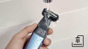 Лесен за почистване и употреба под душа или извън него