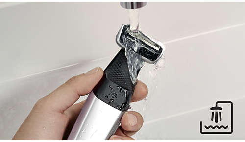 Facile à nettoyer et à utiliser à sec ou sous la douche