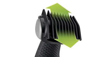 Incluye 1 peine-guía para conseguir un corte natural (3mm)