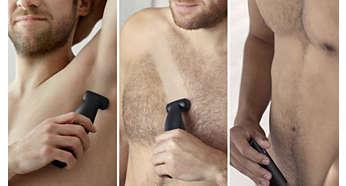 Άνετο ξύρισμα ή τριμάρισμα σε όλες τις περιοχές του σώματος