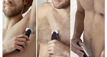 Recorte o afeitado de cualquier zona del cuerpo con seguridad