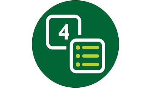 Jedno naciśnięcie przycisku zapewnia dostęp do programów