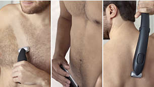 Confidently trim or shave all body zones