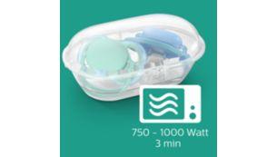 Vienkāršas darbības drošai sterilizācijai 3minūšu laikā