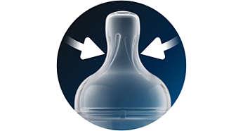 Особая форма соски для надежного захвата