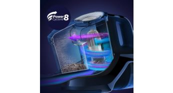 PowerCyclone 8 - our most powerful bagless technology - Philips SpeedPro Max Stick Vacuum Cleaner