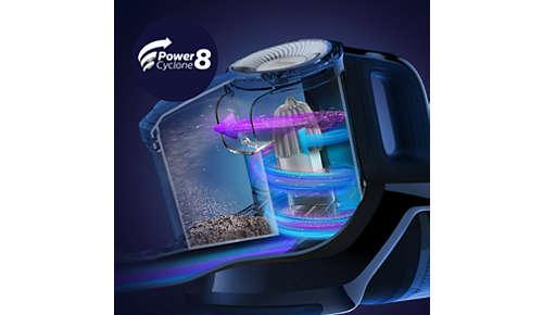 PowerCyclone8– unsere leistungsstärkste beutellose Technologie