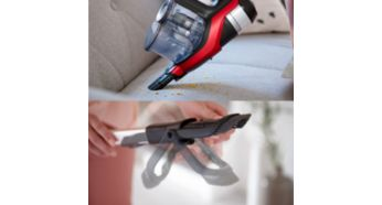 Integrated Handheld unit, Crevice Tool and Brush - Philips SpeedPro Max Stick Vacuum Cleaner