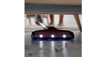 LED nozzle reveals hidden dust and dirt