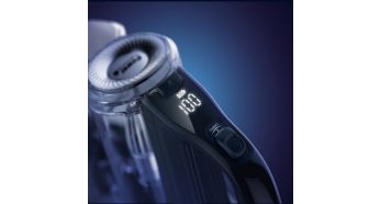 Smart digital display indicates speed and battery usage - Philips SpeedPro Max Stick Vacuum Cleaner