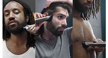 Trim and style your face, head and body with 25 pieces
