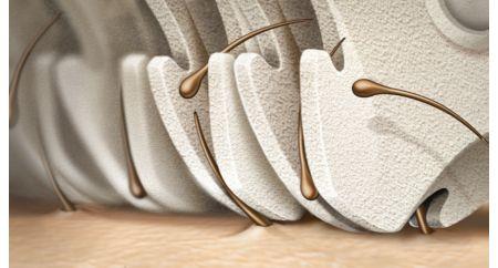 Epilation head of unique ceramic material for better grip