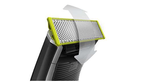 Crea líneas precisas y definidas con la cuchilla de doble cara