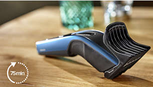 75minut použití bez kabelu po 8hodinách nabíjení
