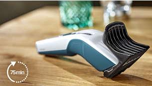 8godzin ładowania wystarcza na 75minut pracy przy zasilaniu akumulatorowym