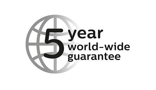 2Jahre Garantie plus 3zusätzliche Jahre, wenn Sie sich online registrieren