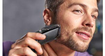 У комплекті гребінець для бороди із 12налаштуваннями довжини – від 1 до 23мм