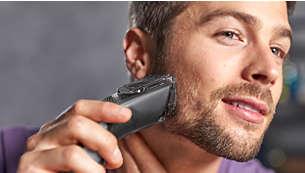 Включва гребен за брада за 12 регулируеми дължини: 1 до 23 мм