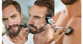 Trim and style your face, head and body with 24 pieces