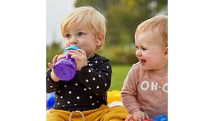 Le tazze Philips Avent seguono lo sviluppo del tuo bambino