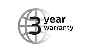 3 year* warranty, worldwide voltage, no oil needed