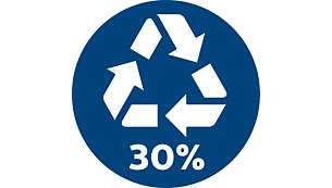 30% gerecycled plastic