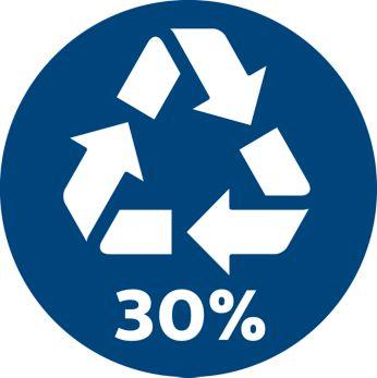 30% переработанного пластика