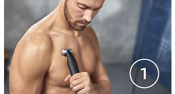 Afeita primero con la afeitadora corporal