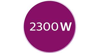 2300W pour une augmentation rapide de la température en 30secondes
