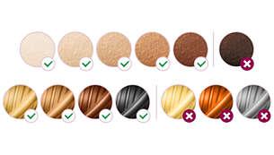 Geeignete Haar- und Hauttypen