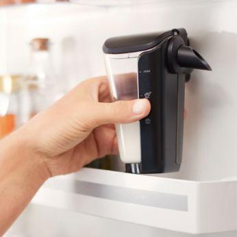 Крышка для LatteGo позволяет сохранить молоко в холодильнике свежим