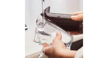 LatteGo este extrem de usor de curatat: 2 piese, fara tuburi