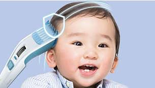 W zestawie nasadka grzebieniowa dla dzieci z 12 ust. długości: od 1 do 23mm