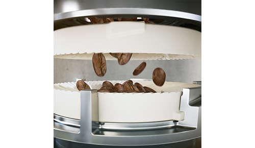 20.000 tazze di pregiato caffè con macine in ceramica resistenti
