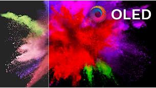 Televisor OLED 4K UHD: imagen auténtica.