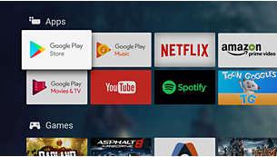 Google Play Store und Philips App Gallery. Für noch mehr Unterhaltung.