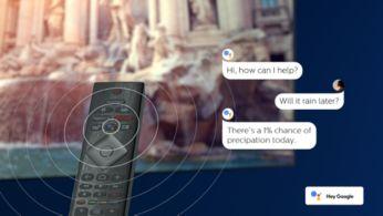 Встроенный голосовой помощник Google Assistant: голосовое управление телевизором