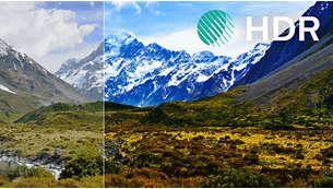 HDR Plus. Forbedret kontrast, farge og skarphet.