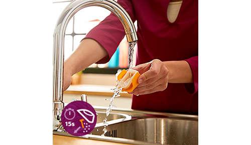 Sistem de decalcifiere rapidă pentru o curăţare uşoară a fierului tău de călcat