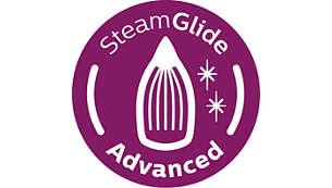 SteamGlideAdvanced-Bügelsohle für hervorragendes Gleiten auf allen Stoffen