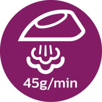 Подача пара до 45г/мин для быстрого разглаживания складок