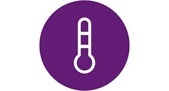 Temperatursensor känner av och varnar för klimatet i barnets rum